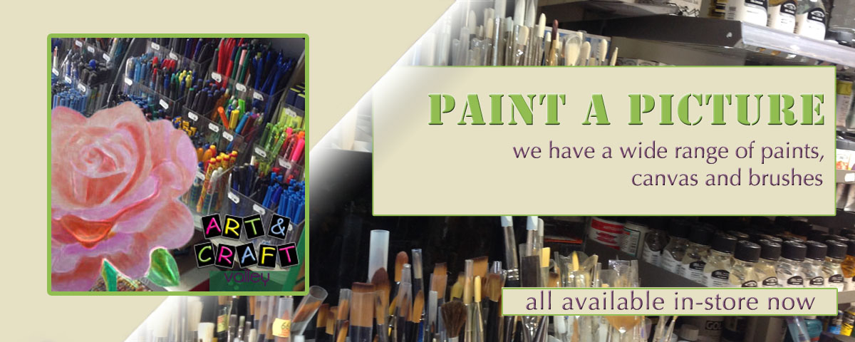 Art and Craft Valley | Paints & Brushes | Tel: 020 8660 3222